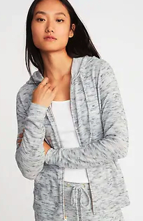 Relaxed Plush Knit Lounge Hoodie