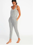 Relaxed Plush Knit Sleep Jumpsuit