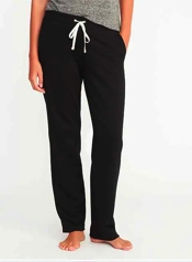 French Terry Straight Leg Sweatpants